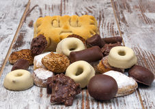 Chocolate and shortbread Royalty Free Stock Photos