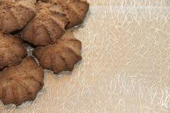 Chocolate shortbread cookie. delicious shortbread cookies with cocoa. Crispy chocolate shortbread cookie. delicious shortbread cookies with cocoa Stock Photos