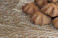 Chocolate shortbread cookie. delicious shortbread cookies with cocoa. Crispy chocolate shortbread cookie. delicious shortbread cookies with cocoa Stock Photography