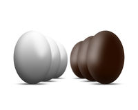 Chocolate and silver eggs Stock Image