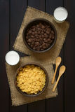 Chocolate and Simple Corn Flakes Stock Photography