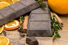 Chocolate sin procesar anaranjado fotos de archivo libres de regalías