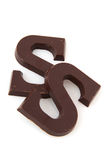 Chocolate Sinterklaas letter Stock Images