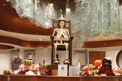 Chocolate Skeleton at display for Halloween at Aria Resort and Casino Las Vegas Stock Photo