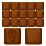 Chocolate skull squares Royalty Free Stock Photos