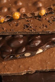 Chocolate slab Stock Photography