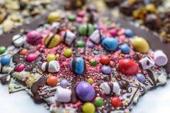 Chocolate slab Stock Photos