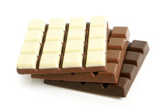 Chocolate slabs Stock Photos