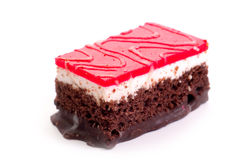 Chocolate slice of cake Royalty Free Stock Image