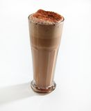 Chocolate slush. Cup cold top Stock Photography