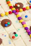 Chocolate with smarties Royalty Free Stock Images