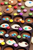 Chocolate with smarties Stock Image