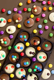 Chocolate with smarties Royalty Free Stock Photos