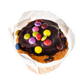 Chocolate smarties muffin Stock Photography