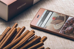 Chocolate smartphone