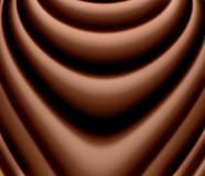 Chocolate smile. Abstract, glossy and wavy dark chocolate background Stock Photo