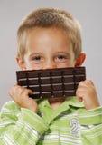 Chocolate smile. Royalty Free Stock Photo