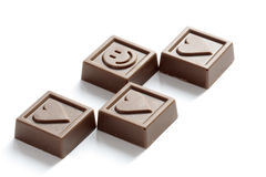 Chocolate smile and heart Stock Photo