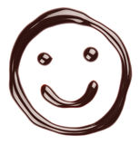 Chocolate smiling face. On white background Royalty Free Stock Image