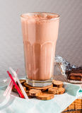 Chocolate smoothie with banana and peanut butter Royalty Free Stock Image