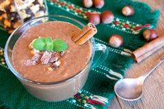 Chocolate smoothie Stock Photos