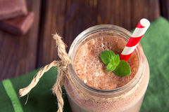 Chocolate smoothie (milkshake) Stock Photography