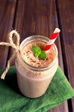 Chocolate smoothie (milkshake) Royalty Free Stock Photo