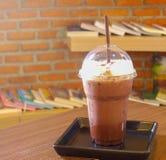 Chocolate smoothies with cream Royalty Free Stock Photos