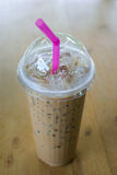 Chocolate smoothies. A glass of chocolate smoothies Royalty Free Stock Photography