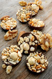 Chocolate snack with hazelnuts and nuts Stock Image