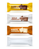 Chocolate Snack  Packaging Set Royalty Free Stock Photography