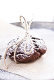 Chocolate snow cap cookies for Christmas Royalty Free Stock Photos