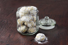 Chocolate snowballs Royalty Free Stock Images