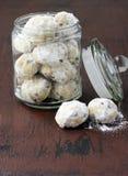 Chocolate snowballs Stock Photos