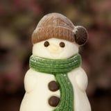Chocolate snowman Stock Image