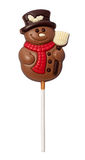 Chocolate Snowman isolated with clipping path Stock Images