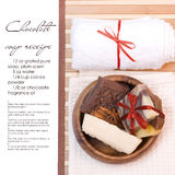 Chocolate soap spa Stock Image