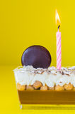 Chocolate soft cake. With almond&cookie Royalty Free Stock Image