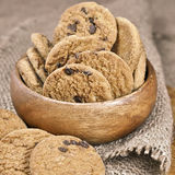 Chocolate soft cookies Royalty Free Stock Photography