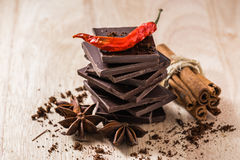 Chocolate with Some Condiment Royalty Free Stock Images