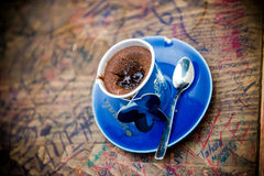 Chocolate soufflé. Served warm at a coffee shop in Antalya (Turkey Royalty Free Stock Image