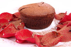 Chocolate souffle Royalty Free Stock Photography