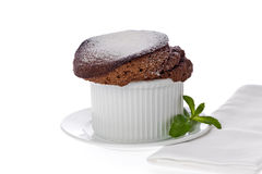 Chocolate Souffle Stock Photos