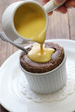 Chocolate souffle Royalty Free Stock Images