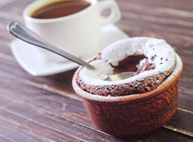 Chocolate souffle Stock Photography