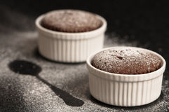Chocolate Souffles Stock Photography