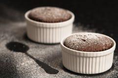 Chocolate Souffles Stock Photography