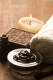 Chocolate spa with cinnamon Royalty Free Stock Image