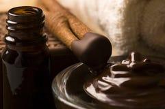Chocolate spa with cinnamon Stock Photos