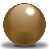 Chocolate Sphere. A Choclate Colored Sphere, contoured to make it look as if it were reflecting light, and Placed upon a shadow to show where it sits on the stock illustration